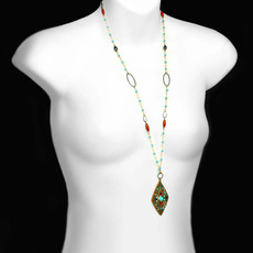 Gold Michal Golan Jewelry Southwest Style Necklace - second image