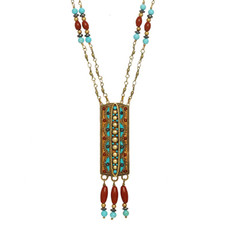 Gold Southwest necklace from Michal Golan Jewelry