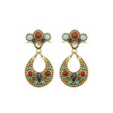 Gold Michal Golan Southwest Earrings