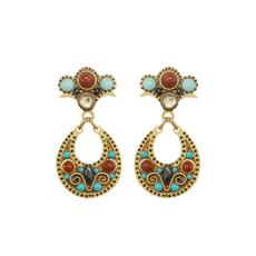 Gold Michal Golan Southwest Earrings