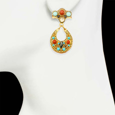 Gold Michal Golan Southwest Earrings - second image