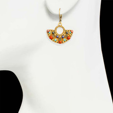 Michal Golan Gold Southwest Earrings - second image