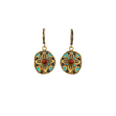 Gold Southwest earrings from Michal Golan Jewelry