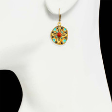 Gold Southwest earrings from Michal Golan Jewelry - second image