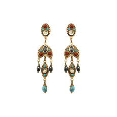 Gold Southwest earrings by Michal Golan Jewelry