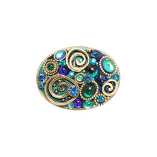 Michal Golan Jewellery Emerald Blue Pin