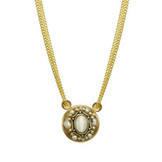Michal Golan White Elegante Necklace