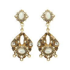 White Elegante style earrings by Michal Golan Jewelry