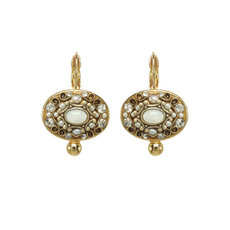Michal Golan Elegante Earrings White