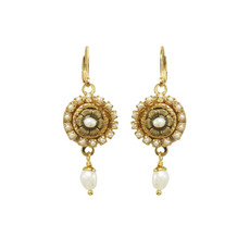 White Michal Golan Elegante Earrings