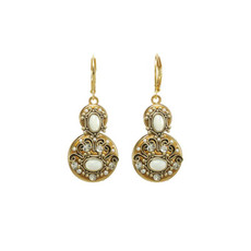 White Michal Golan Jewelry Elegante Style Earrings