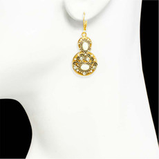 White Michal Golan Jewelry Elegante Style Earrings - second image