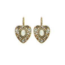White Elegante earrings from Michal Golan