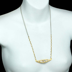 Gold Michal Golan Icicle Necklaces - second image