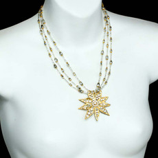 Gold Michal Golan Jewelry Icicle Necklaces - second image