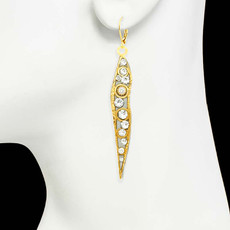 Michal Golan Jewelry Icicle Gold Earrings - second image