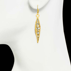 Gold Michal Golan Jewelry Icicle Earrings - second image