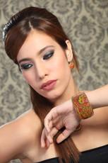 Iris Jewelry Holiday Season Enamel Bangle