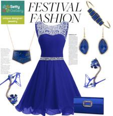 Blue Marcia Moran Jewelry Geometric Shaped Necklace