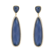 Marcia Moran Blue Britt Earrings