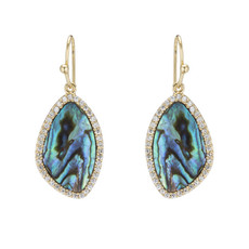Marcia Moran Jewelry Lilly Blue Earrings