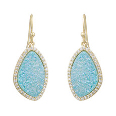 Blue Lilly earrings by Marcia Moran Jewelry