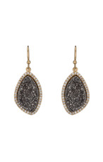 Marcia Moran Lilly Titanium Druzy Earrings