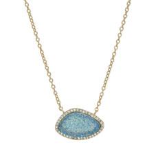 Blue Valencia style necklace by Marcia Moran Jewelry