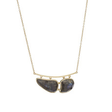 Marcia Moran Blue Rhea Necklace