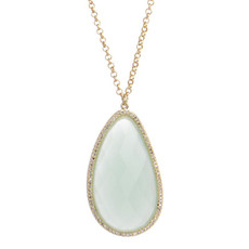 Marcia Moran Jewelry Trent Blue Chalcedony Necklace