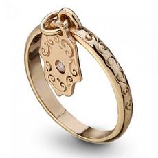 Haari Kabbalah Haari Gold Hamsa Kabbalah Ring Ring Gold