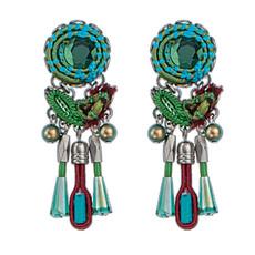 Green Cornelia style earrings by Ayala Bar Jewelry