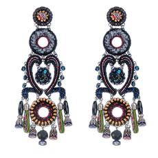 Black Ayala Bar Jewelry Nighthawk Earrings