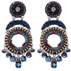 Black Ayala Bar Jewelry Nighthawk Style Earrings