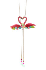 Michal Negrin Double Flamingo Necklace