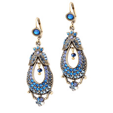 Michal Negrin Pear Earrings - Multi Color