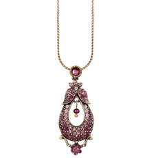 Michal Negrin Pear Necklace - Multi Color