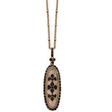 Michal Negrin Black Stone Necklace - Multi Color