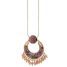 Michal Negrin Heavy Heart Necklace - Multi Color