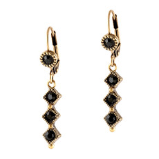 Michal Negrin Three Down Earrings - Multi Color