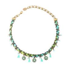 Michal Negrin Loose Bond Necklace - Multi Color