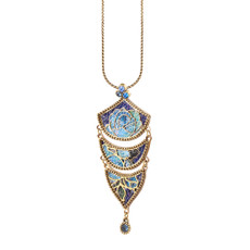 Michal Negrin Blue Fade Necklace - Multi Color