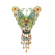 Michal Negrin Butterfly Brooch - Multi Color