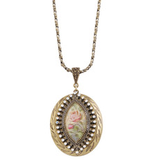 Michal Negrin Open Cocoon Necklace - Multi Color