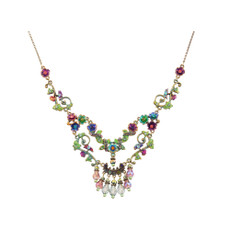 Michal Negrin Flower Field Necklace - Multi Color
