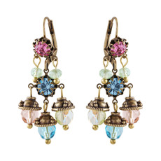 Michal Negrin Queen Earrings - Multi Color