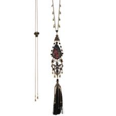 Michal Negrin Vintage Silk Necklace - Multi Color