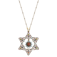 Michal Negrin David Medallion Necklace - Multi Color