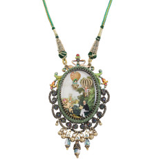 Michal Negrin Lace Picture Necklace