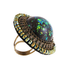 Michal Negrin Encased Flower Ring - Multi Color